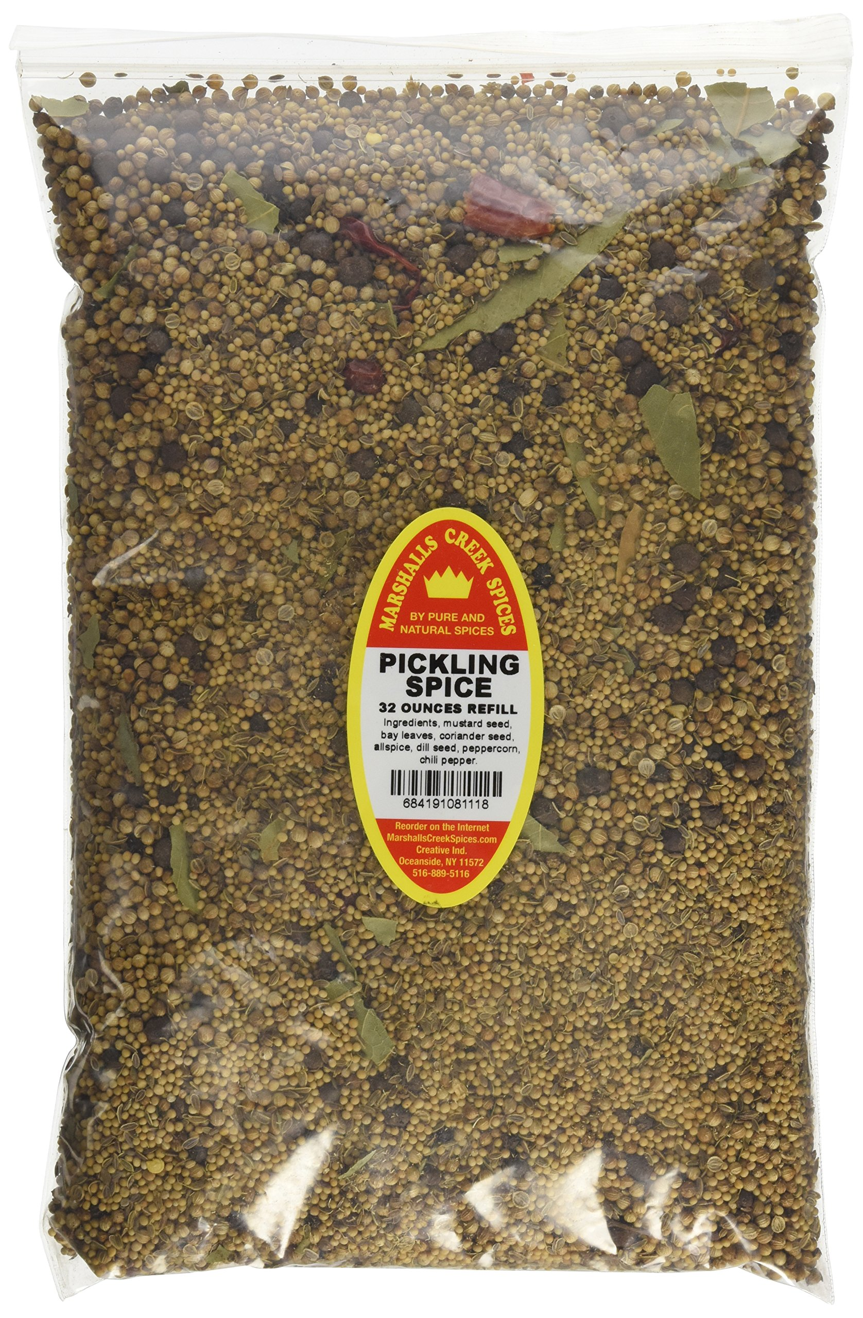 Marshalls Creek Spices Family Size Refill Pickling Spice Seasoning, 32 Ounce