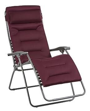 détaillant en ligne a4ca7 47a30 Lafuma Fauteuil Relax, Pliable et réglable, RSX Clip XL, Air Comfort,  Couleur: Bordeaux, LFM2041-8720