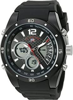 U.S. Polo Assn. Sport Mens US9537 Analog-Digital Display Analog Quartz Black Watch
