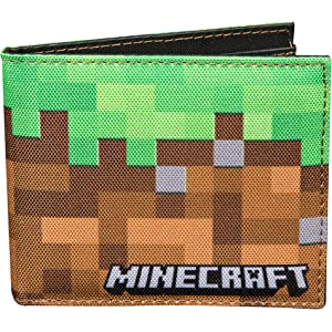 JINX Minecraft Tales from the Nether Nylon Tri-Fold Wallet Multi-Colored One Size