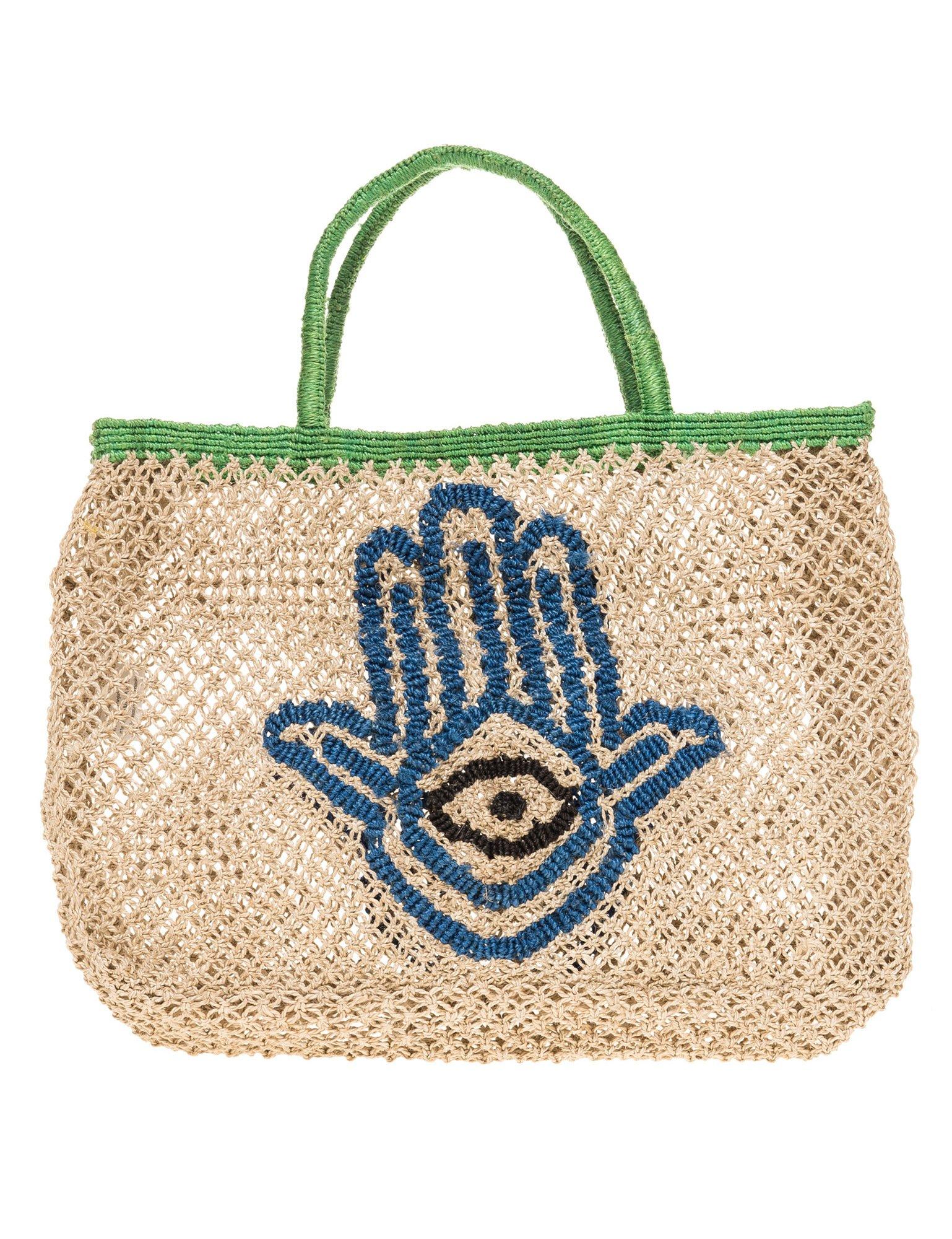 The Jacksons Women's Hand Of Fatima Small Women's Beige Jute Bag Beige