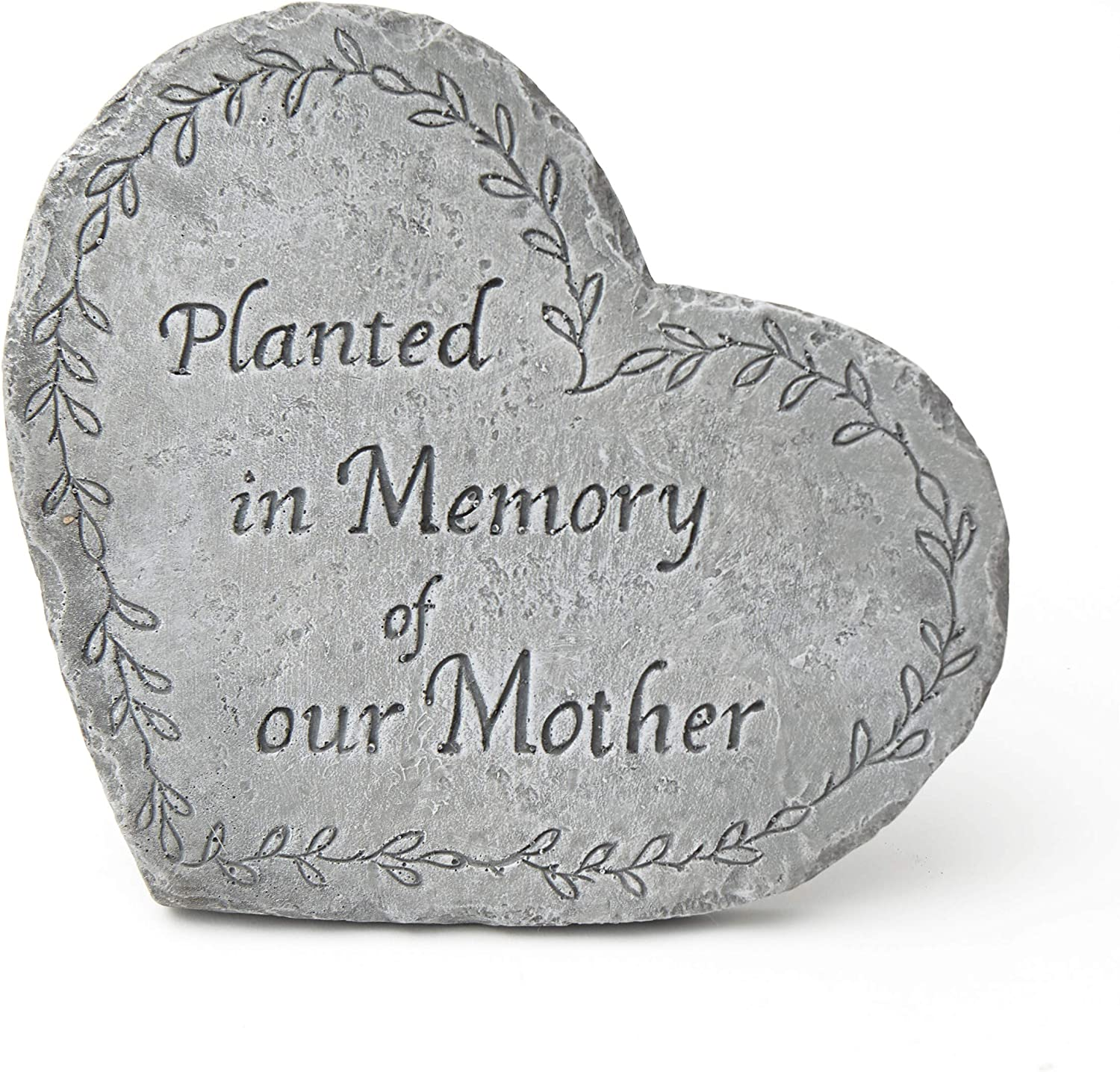 The Lakeside Collection Decorative Heart Shaped Garden Memorial Stone with Sentiment - Mother