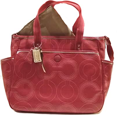 Coach Baby Bag Stitched Patent Leather