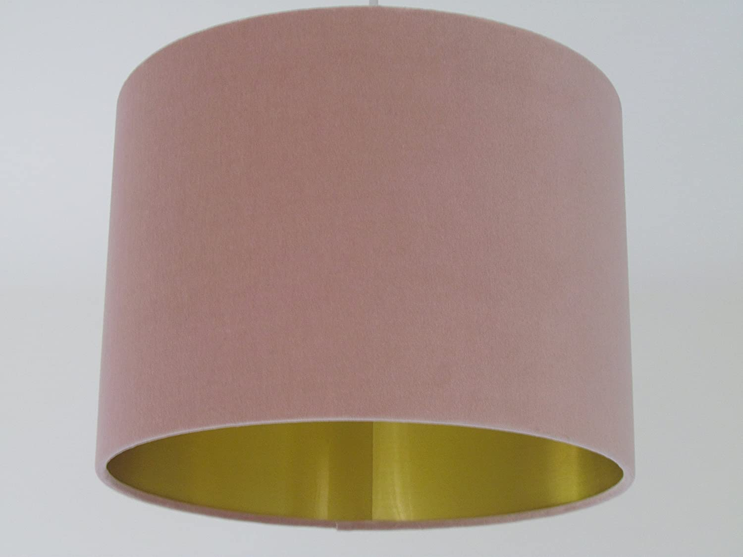 Blush Pink Oyster Velvet with Brushed Gold Metallic Lined Lampshade Lightshade All Sizes