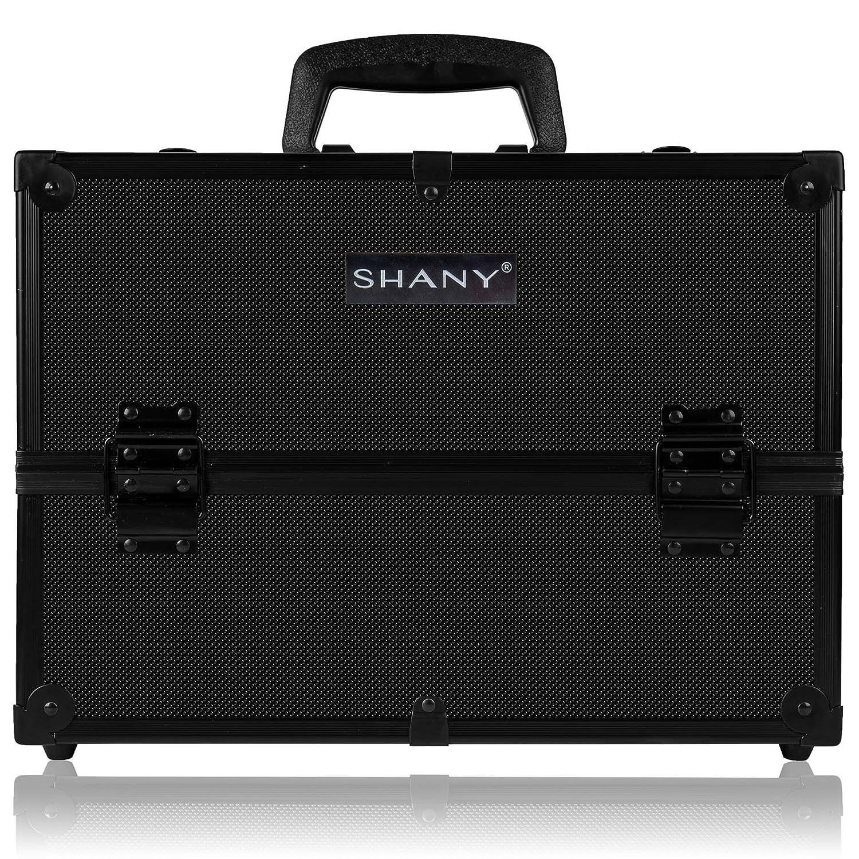 SHANY Essential Pro Makeup Train Case with Shoulder Strap and Locks, Black ETRAVIS Inc SH-C005-BKBK