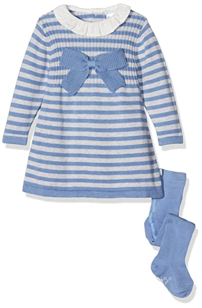 902d7bcb5 Tutto Piccolo Baby Girls  COLLODI 3202W17 Knit Dress with Woollen ...
