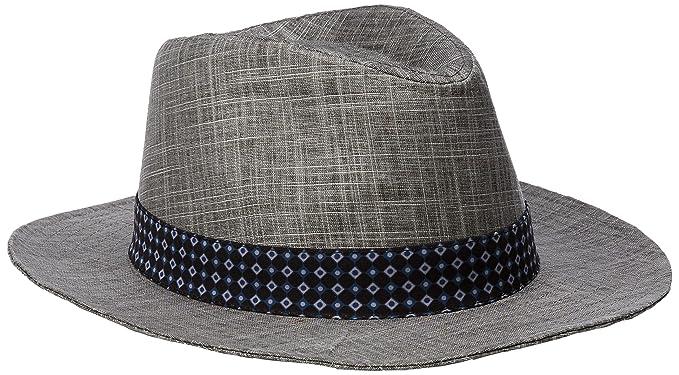 Amazon.com  Ben Sherman Men s Textured Linen Trilby Hat  Clothing f944664b94b0