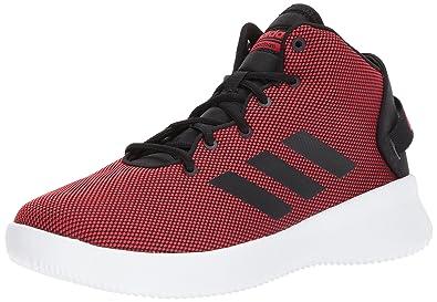 de9a7cd93a0 adidas Men's Cf Refresh Mid Basketball Shoe, Scarlet/Black/White, 9.5 Medium