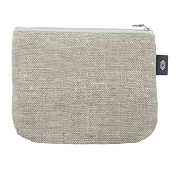 Amazon.com: Bolsa de tocador de lona grande, 100 % lino ...