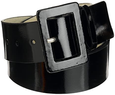14692589c4b9c Amazon.com: Nine West Women's Patent Leather Belt, Black: Clothing