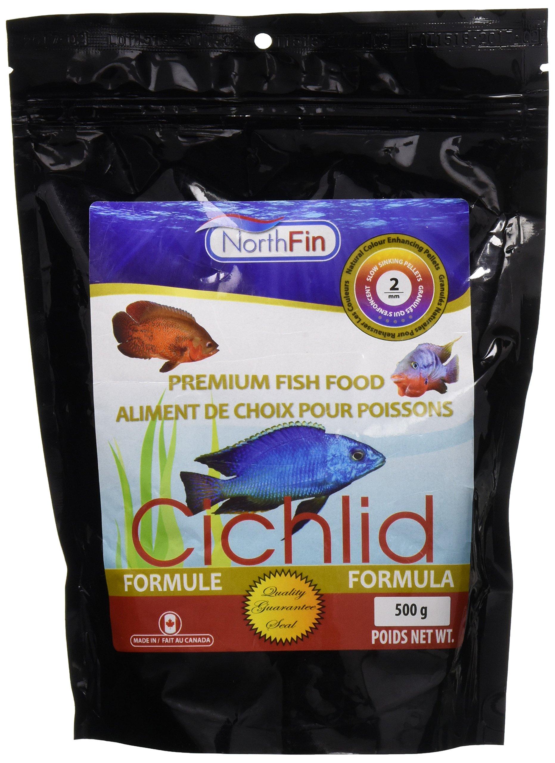 Northfin Food Cichlid Formula 2Mm Pellet 500 Gram Package by Northfin