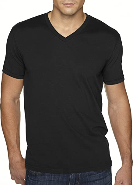 4bae466015b59b Next Level Apparel 6440 Mens Premium Fitted Sueded V-Neck Tee - Black
