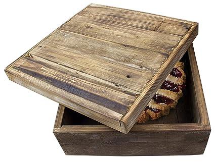 Natural Wood Pie/Bread Storage Box   14u0026quot;