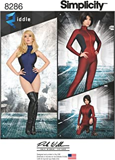 product image for Simplicity US8286H5 Women's Leotard and Jumpsuit Cosplay Costume Sewing Patterns by Riddle and Dale Wibben, Sizes 6-14