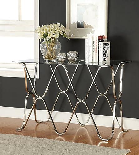 Furniture of America Mirella Contemporary Sofa Table
