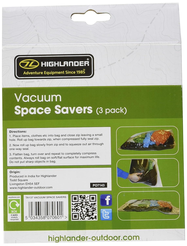 Highlander Vacuum - Funda de compresión para saco de dormir, color transparente: Amazon.es: Deportes y aire libre