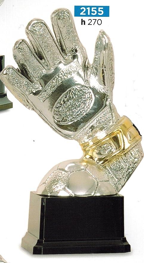 Trofeo fútbol Guante portero con balón – H cm 27 – Manivela – Made ...