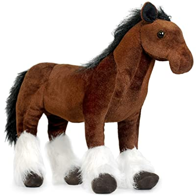 VIAHART Charmaine The Shire Horse | 18 Inch Large Shire Horse Stuffed Animal Plush Pony | by Tiger Tale Toys: Toys & Games