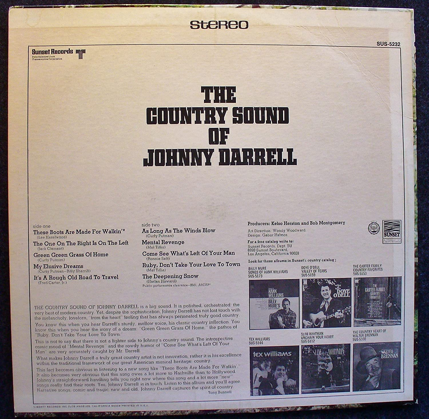the Country Sound of Johnny Darrell - Amazon com Music