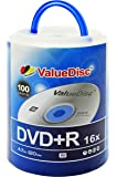 Value Disc DVD+R 16X 4.7GB 100PK Spindle with Handle