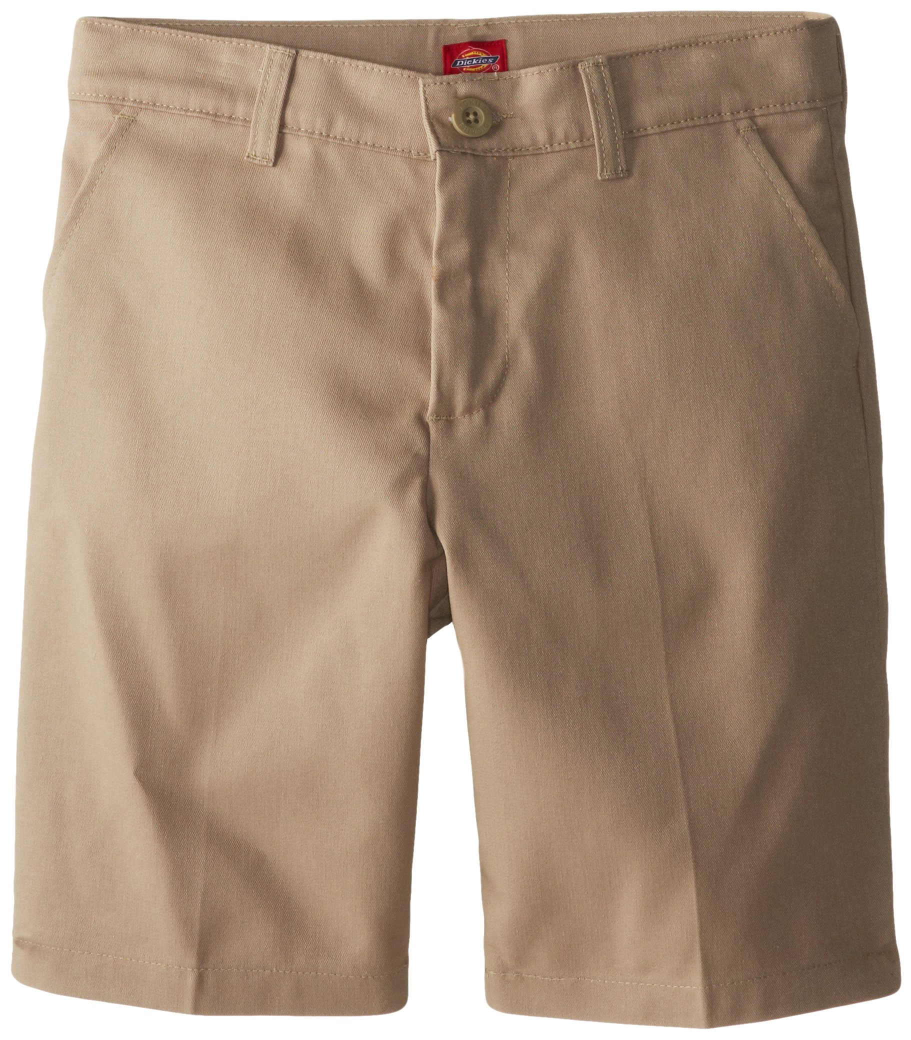 Dickies Girl Big Girls' Flex Waist Slim Fit Flat Front Short, Desert Sand, 12