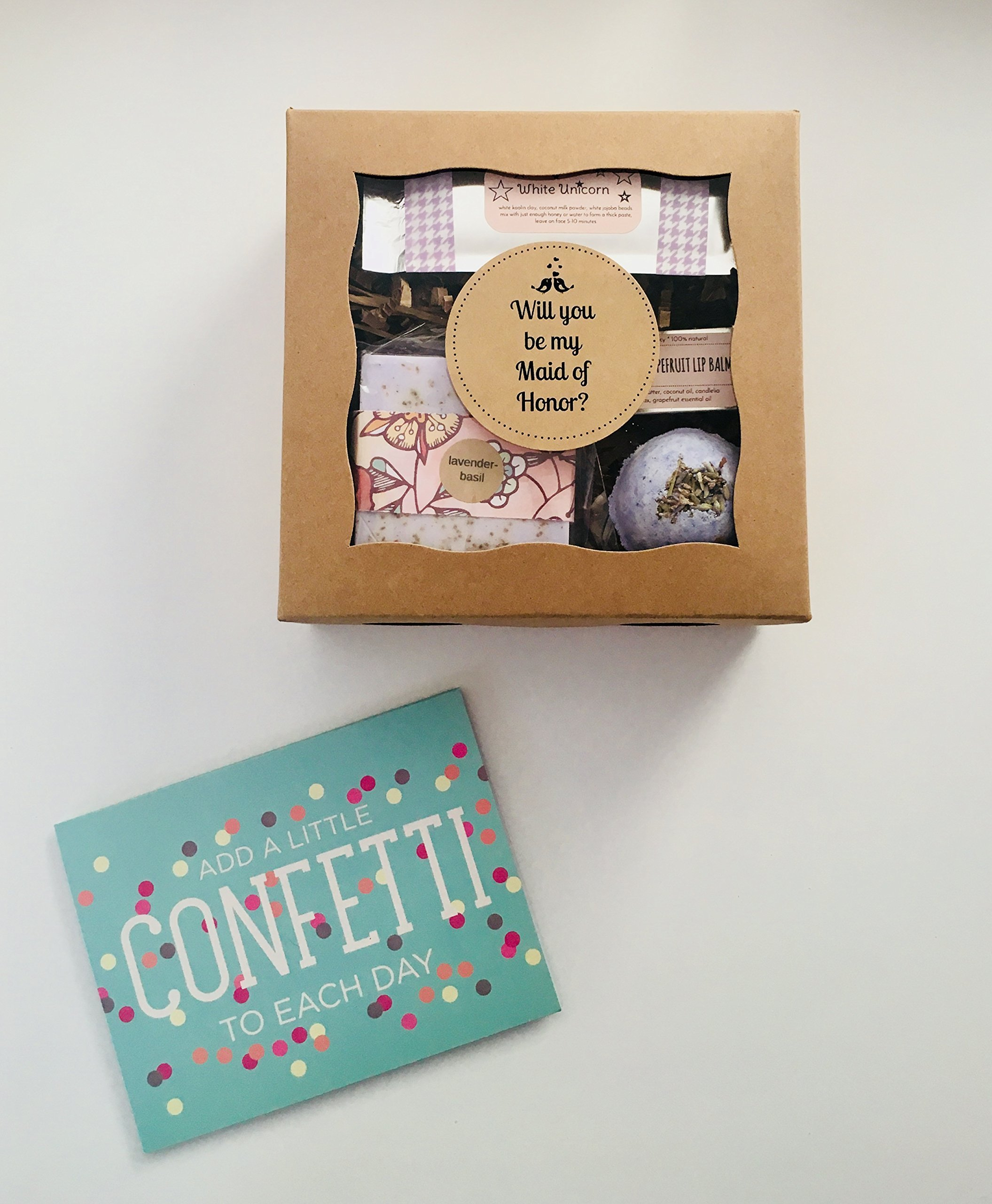 WILL YOU BE MY MAID OF HONOR? proposal box and card