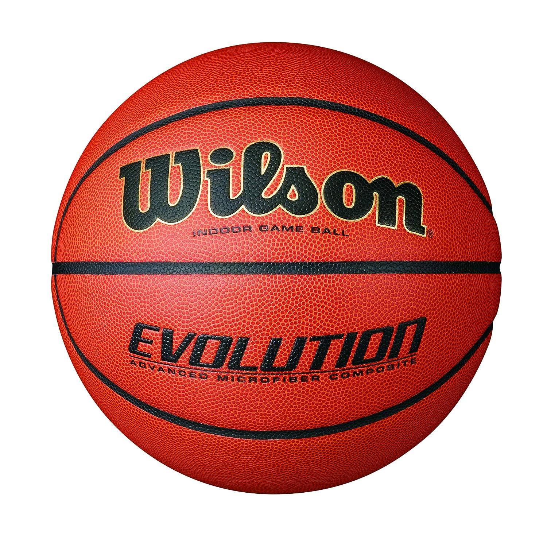 Wilson Evolution Indoor Basketball für Training und Wettkampf | Optimale Ballkontrolle | Verschiedene Größen und Gewichte | Kunstleder Wilson®