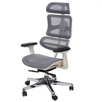 Bürostuhl weiß grau  Bürostuhl HWC-A66, Schreibtischstuhl, Sliding-Funktion Textil ...