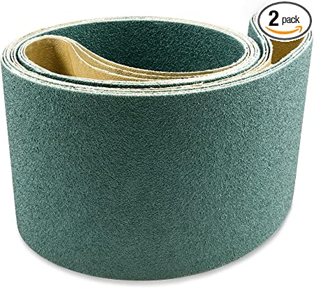"6/"" x 89/"" Inch 60 Grit Aluminum Oxide Sanding Belt Kit for Metal or Wood 5 Pack"