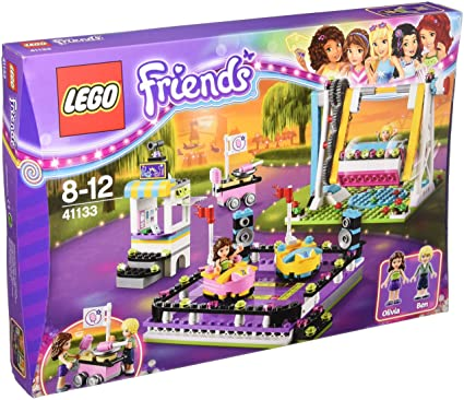 Amazon Com Lego Friends Amusement Park Bumper Cars Set 41133 Toys