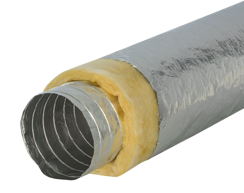 L/änge 10m Intelmann Alu-Flexschlauch /Ø 200 mm thermisch isoliert 80 100 125 150 160 200 250