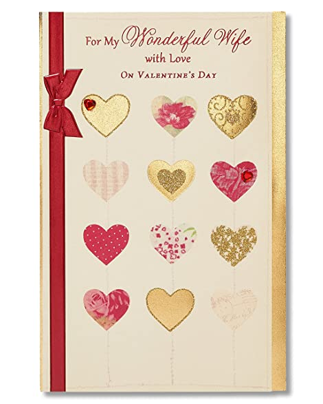 Amazon american greetings wonderful wife sentimental american greetings wonderful wife sentimental valentines day card for wife with rhinestones m4hsunfo