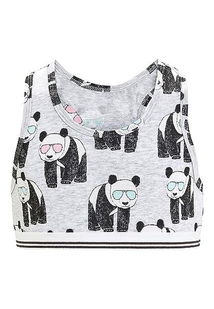 next Niñas Pack De Tres Tops Cortos con Pandas (Niña Mayor)