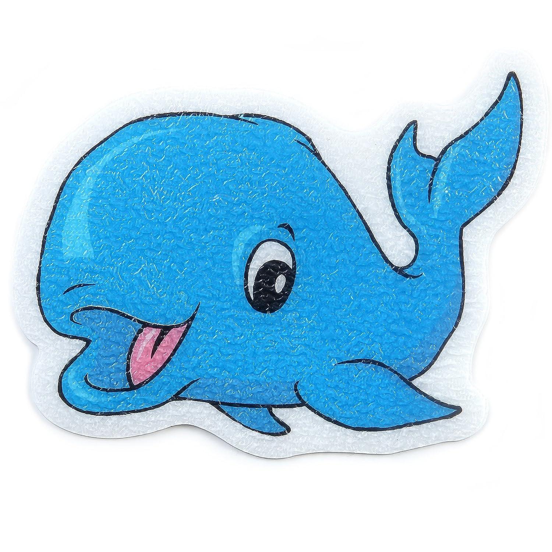 Amazon.com: SlipX Solutions Adhesive Bath Treads: Whale Tub Tattoos ...
