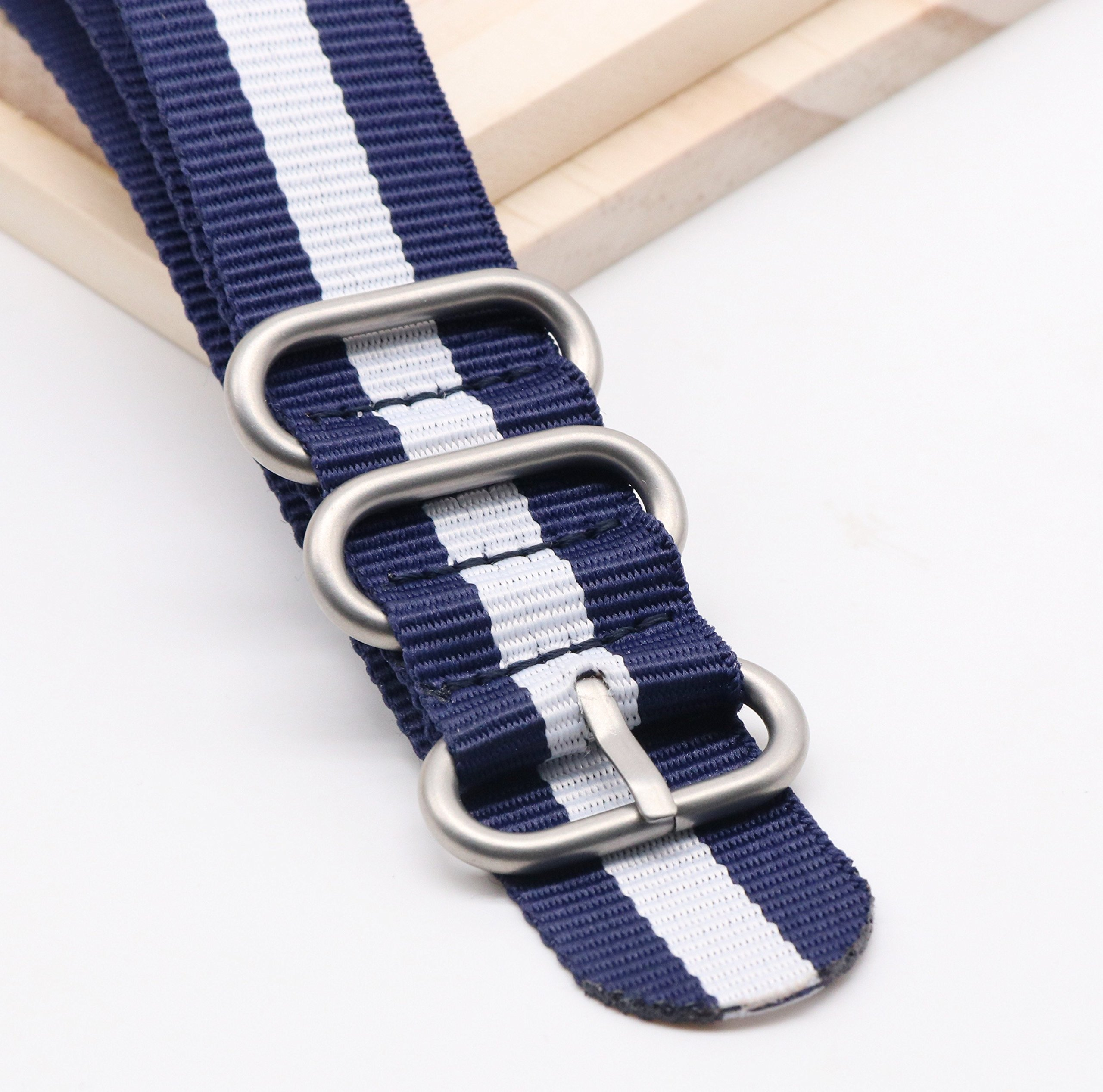 22mm Ballistic Nylon Watch Band with NATO Design 4 Pack by autulet (Image #2)