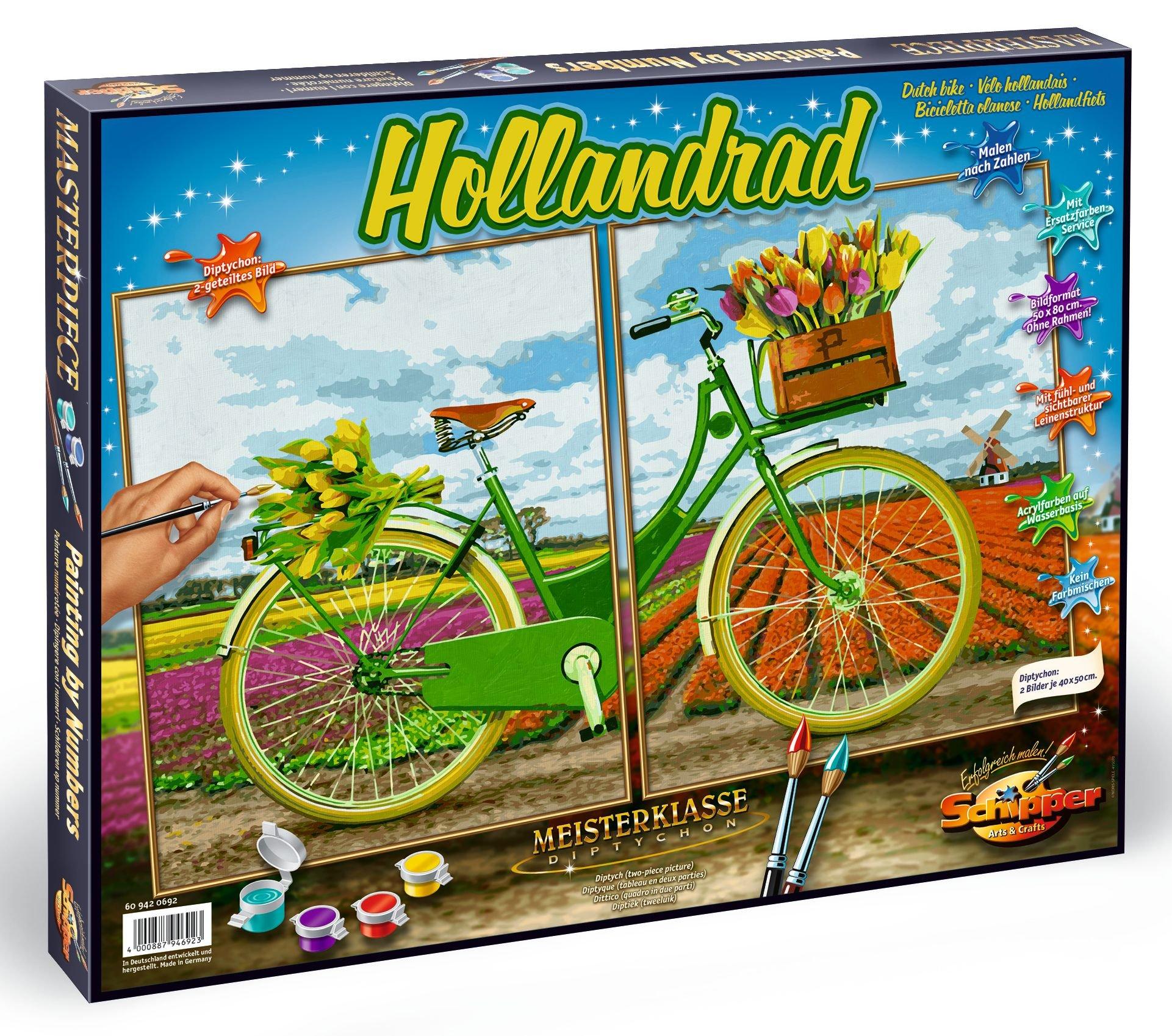 Schipper 609420692 Dutch Bike Paint by Numbers Board by Schipper