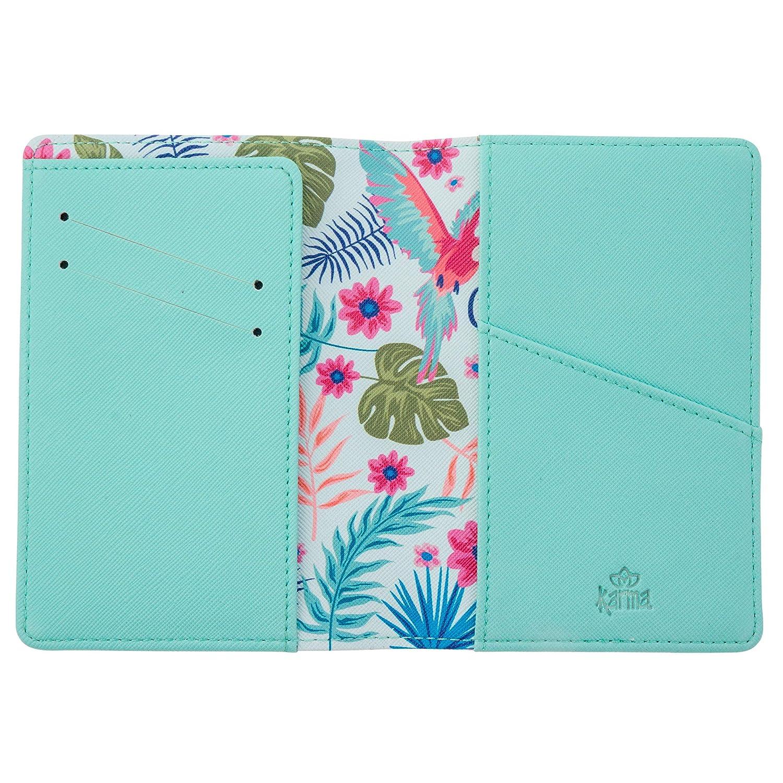 Karma Gifts Passport Holder /& Luggage Tag Set Blue