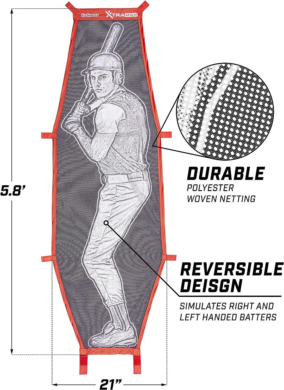 Genauigkeitstraining mit Strike Zone und Xtraman Dummy Batter GoSports Baseball und Softball Pitching Kit