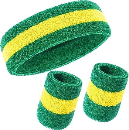 3PCS//SET Sports Wrist Head Sweat Bands Wristbands HeadBands Fitness Sweatbands