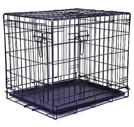 MPETS Jaula Plegable 2 Puertas para Perros, Tamaño XL: Amazon.es ...
