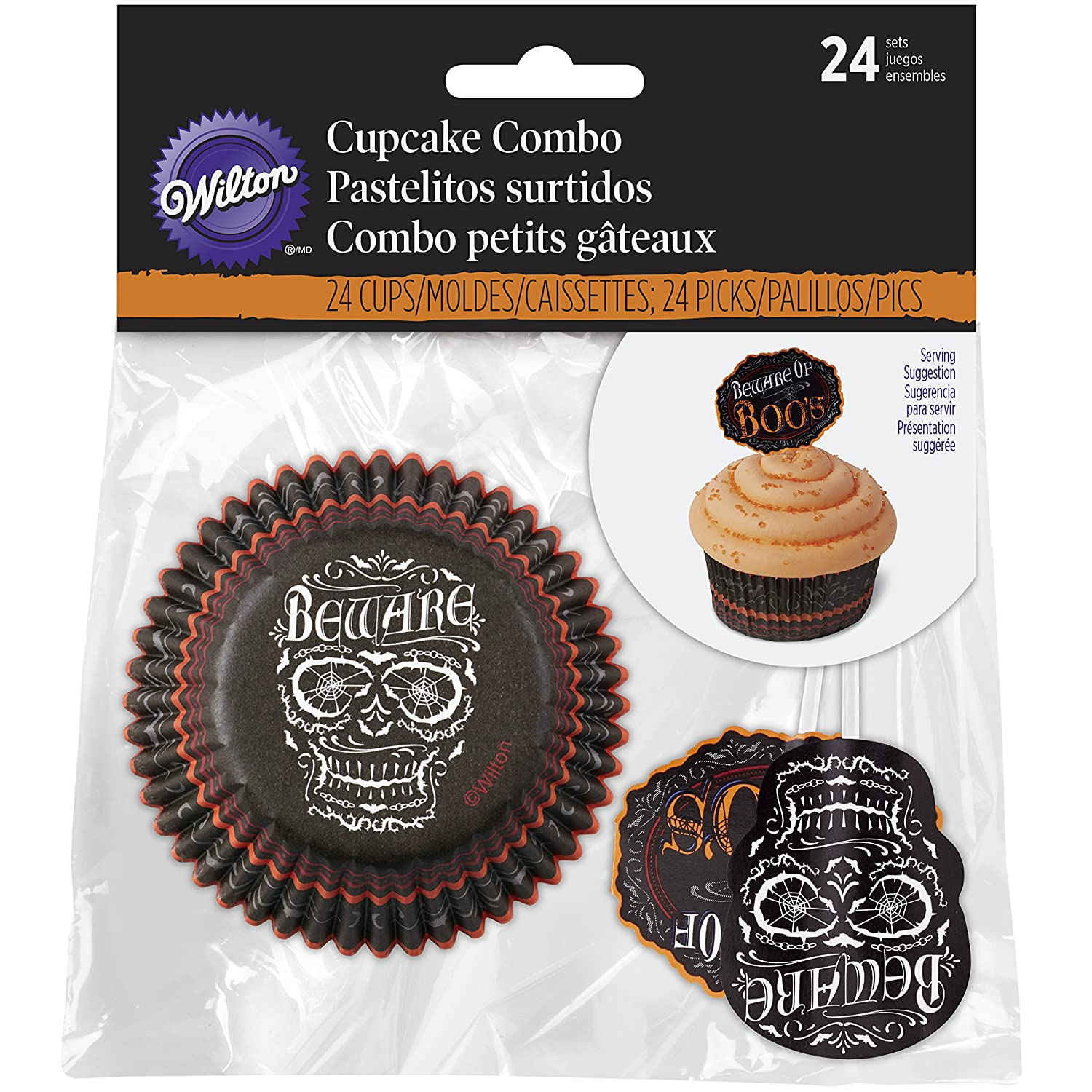 Wilton All Hollows Even Halloween Cupcake Decorating Kit, Wood, Black 415-9968