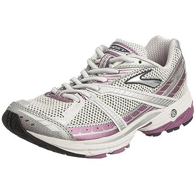 ee1543e1489 Brooks Women s Ghost 2 Running Shoe White Silver Metallic Lilac 4 UK ...