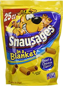 Snausages In a Blanket Beef & Cheese Flavor Dog Snacks
