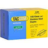 Tacwise 140/10 mm Stainless Steel Staples for Staple Gun - Box of 5000