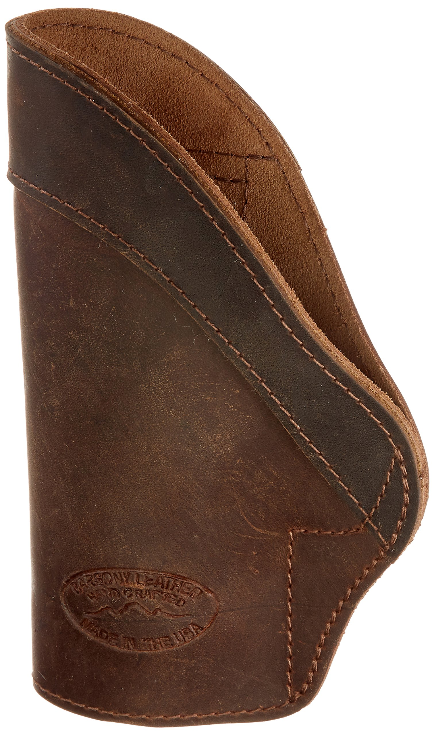 Barsony New Brown Leather IWB Holster + Magazine Pouch for