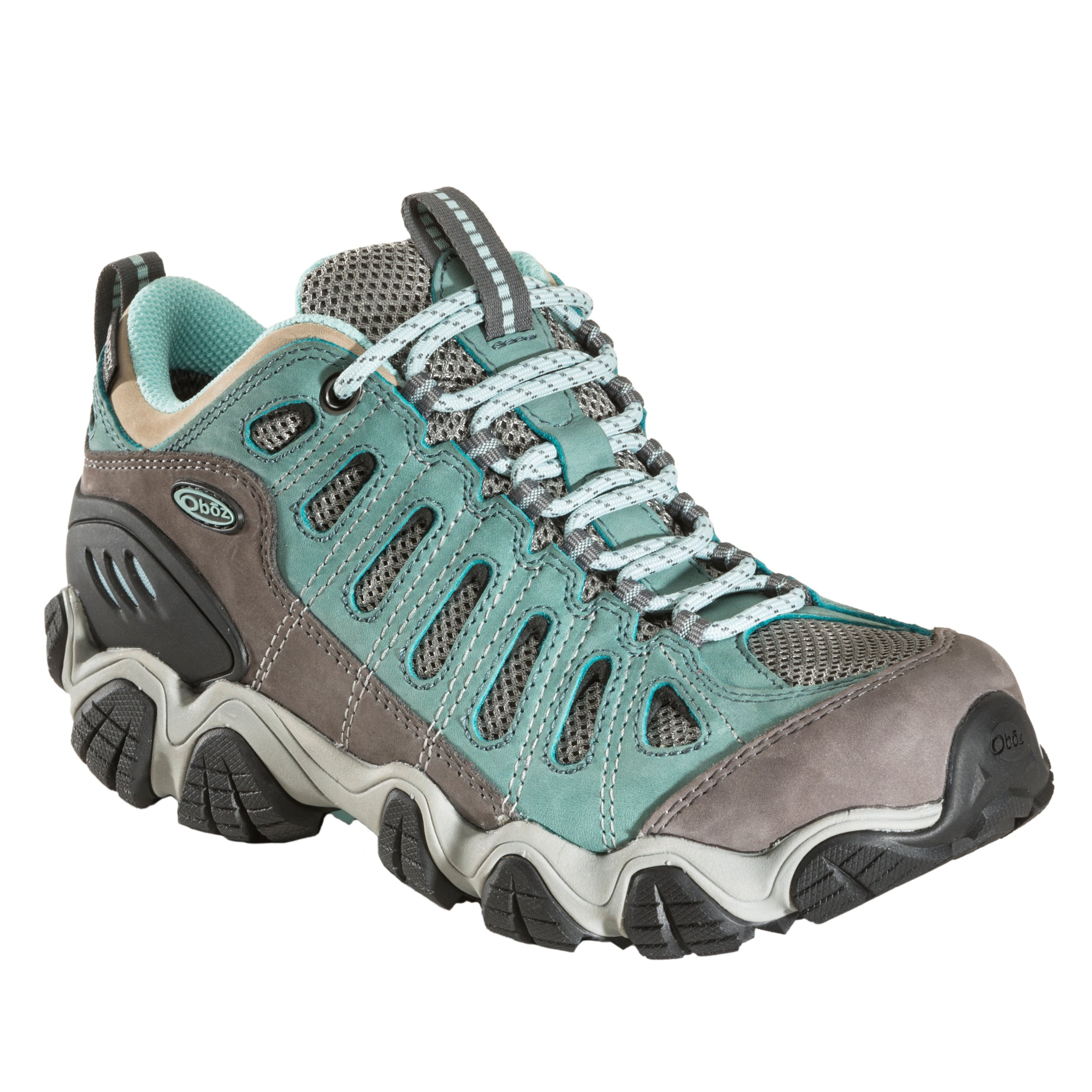 Oboz Sawtooth Low BDry Hiking Shoe - Women's Mineral Blue 8 by Oboz (Image #1)