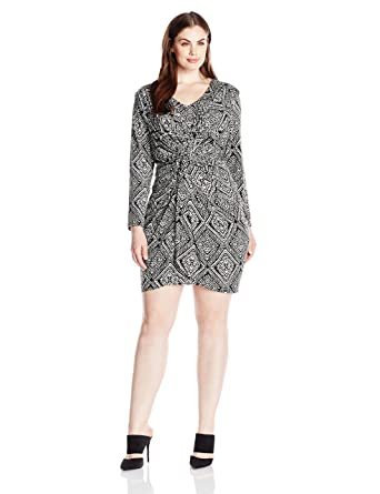 Amazon Misa Los Angeles Womens Plus Size Twist Front Printed