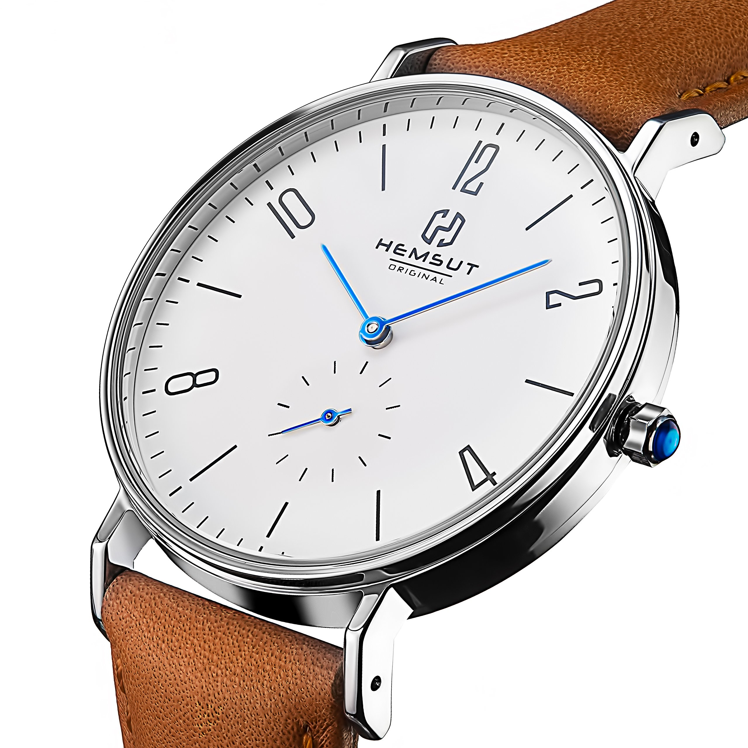 Watches for Men Black - Mens Watch Stainless Steel Waterproof - Mens Watches Cheap - Wrist Watches Leather - Quartz Watch Second Deal