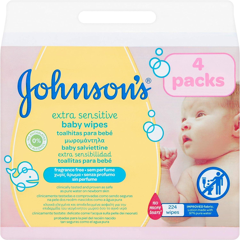 Johnsons baby - Toallitas para bebe Extra sensibilidad, 224 uds ...