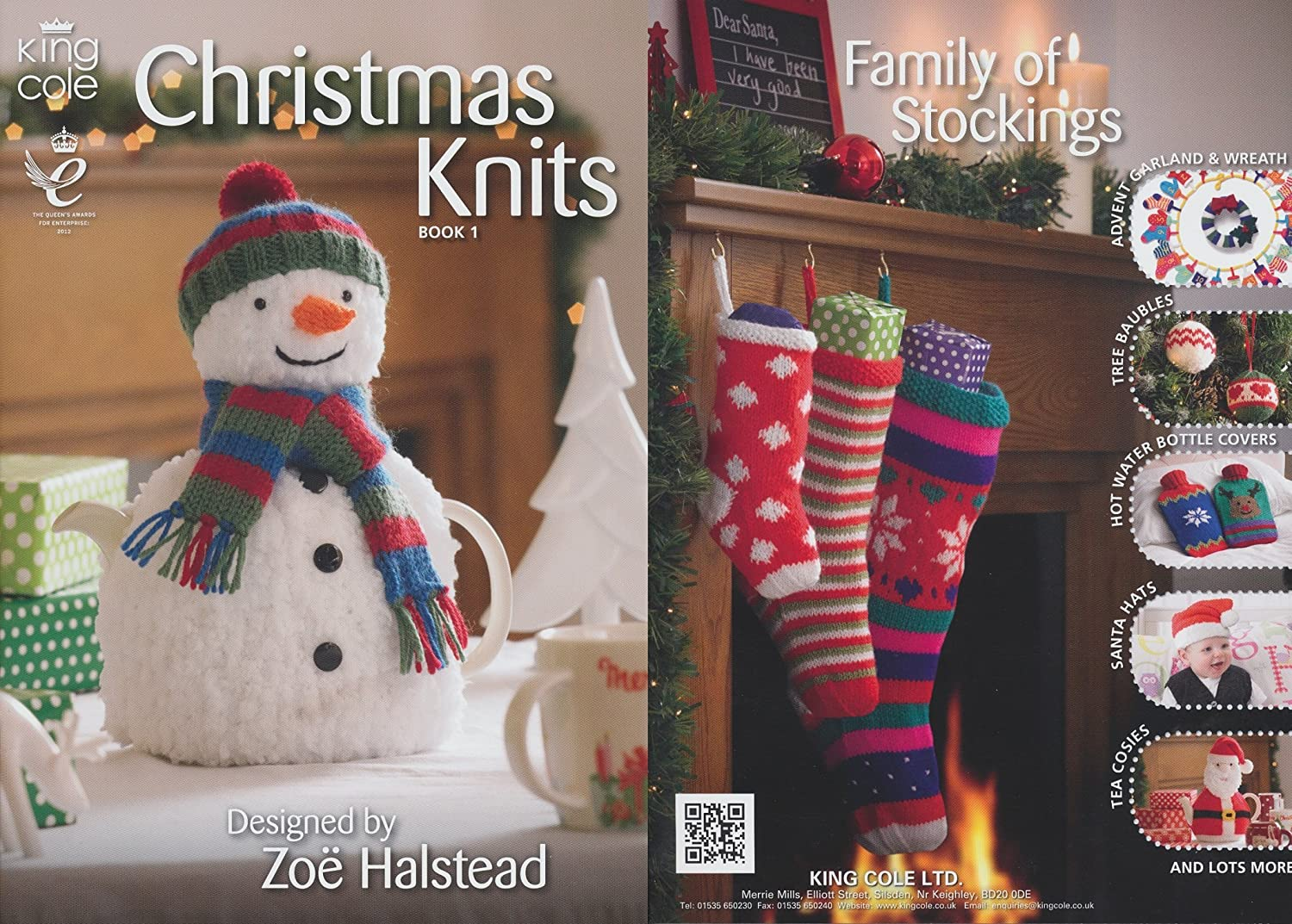 Amazon.com: King Cole Christmas Knits Knitting Book Double Knitting ...